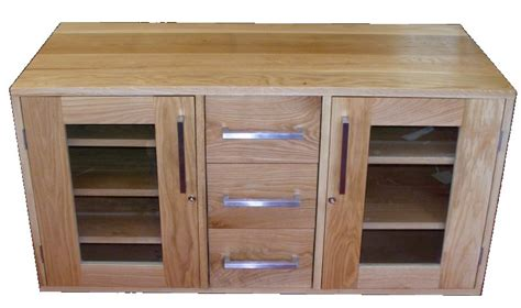 Handmade Tv Cabinets - handmade solid oak tv cabinet
