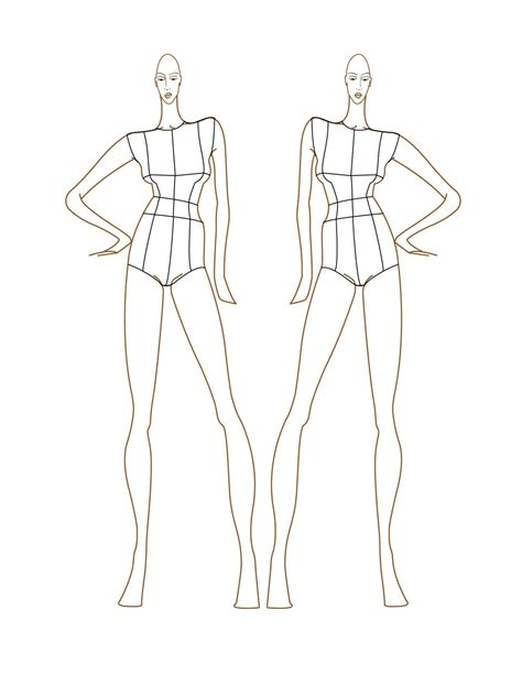 template for fashion design figures images