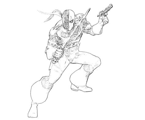 deathstroke coloring pages deathstroke free colouring pages