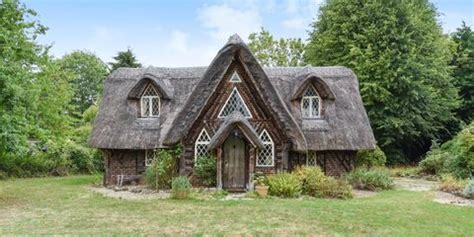 picturesque hansel  gretel style thatched cottage
