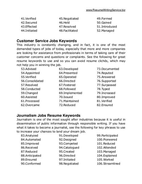 Sle Of Keywords In Resume Key Skills Resume Words 2017 28 Images Communication
