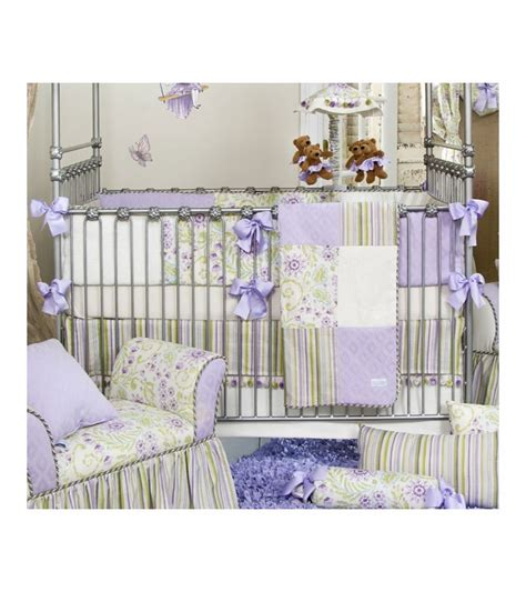 glenna jean crib bedding glenna jean viola 4 piece crib bedding set