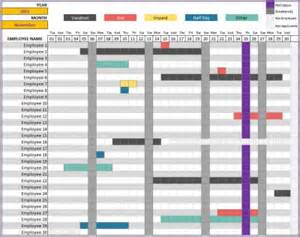 Excel Vacation Calendar Template by Free 2016 Employee Vacation Tracking Calendar Template 2016