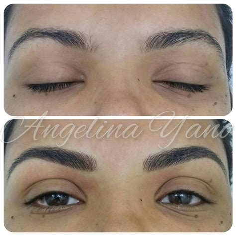 tattoo eyebrows and botox eyebrow hairstroke cosmetic tattoo pinterest