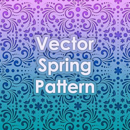 vector pattern generator free vector spring pattern by design maker on deviantart