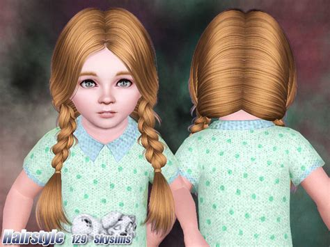 sims 3 hair braid tsr the sims resource over skysims hair 129