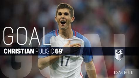 christian pulisic minutes played christian pulisic scores for the usa v bolivia