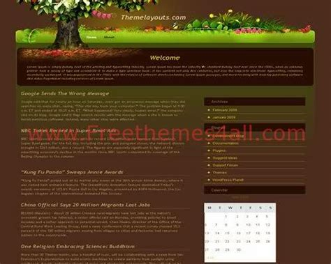 themes wordpress garden free magic tree vector garden wordpress theme download
