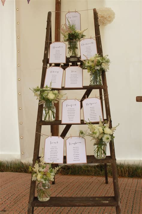 create  rustic ladder table plan   wedding day