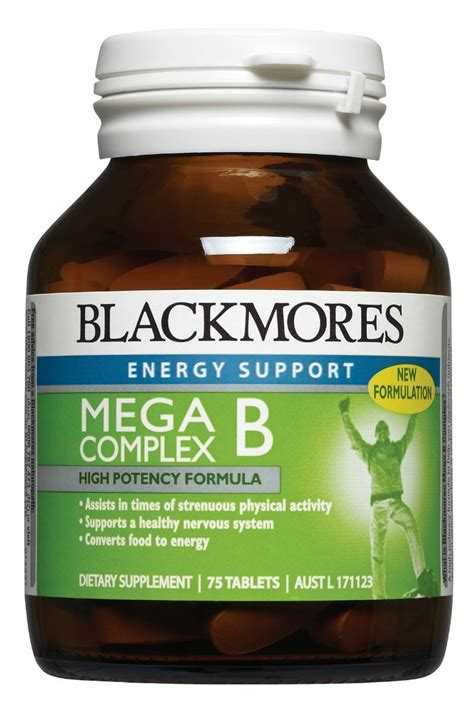 Vitamin B Complex Blackmores blackmores mega b complex 75 tablets at terry white chemists