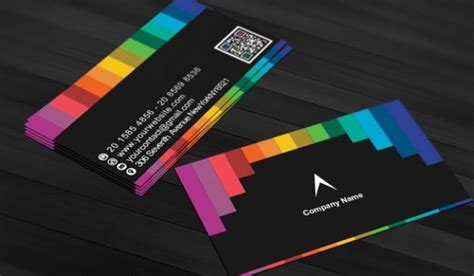 rainbow business card template black business card with rainbow stripes psd file free