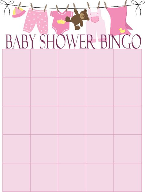 free blank baby bingo cards search results calendar 2015