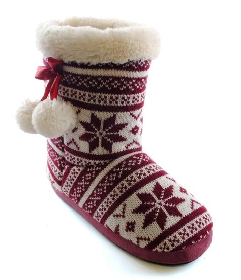 womans slipper boots womens slipper boots booties slippers knitted or fleece