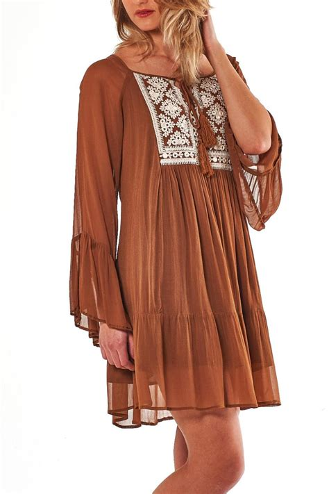 Dress Tunic 1 boho chic caramel tunic dress from