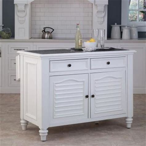 kitchen island home depot home styles bermuda kitchen island with white finish 5543