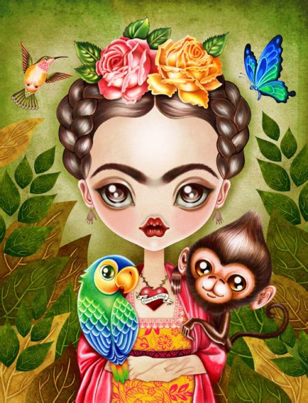 imagenes de frida kahlo kawaii frida querida illustration