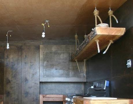 kitchen rope shelf hanging from ceiling recycle pinterest