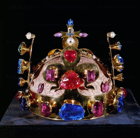 To A King By Labohemian 1346 crown of the of bohemia gold pearls precious stones cathedral vitus prague