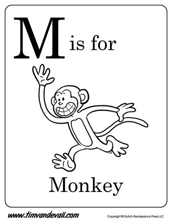 preschool coloring pages letter m m is for monkey letter m coloring page pdf