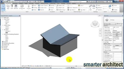 tutorial revit roof revit tutorials butterfly roof in revit doovi