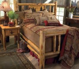 custom rustic bed frame country western bedroom cabin
