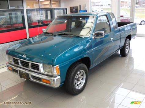 gray nissan truck 1995 nissan hardbody truck xe extended cab in teal