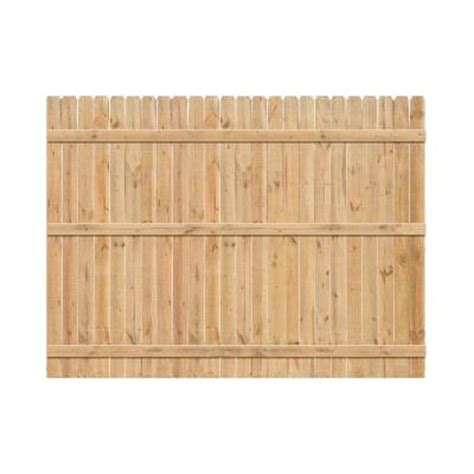 6 ft h x 8 ft w cedar ear fence panel 47466 the