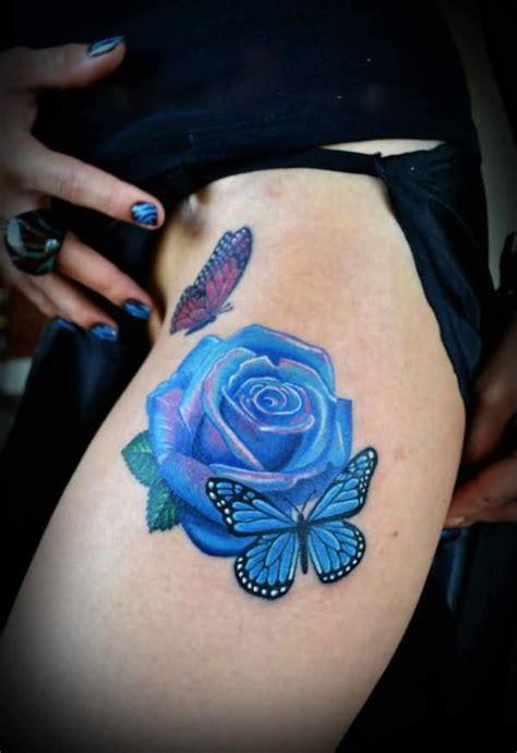 blue rose tattoo denver butterfly flower tattoos flowers ideas for review