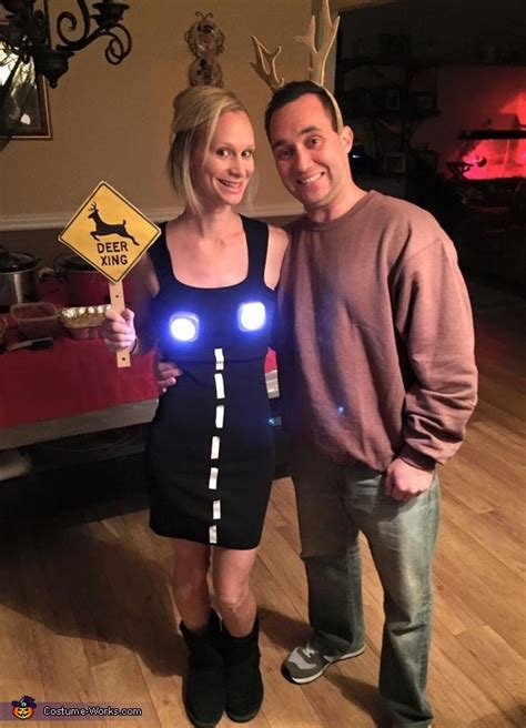 deer  headlights couple costume