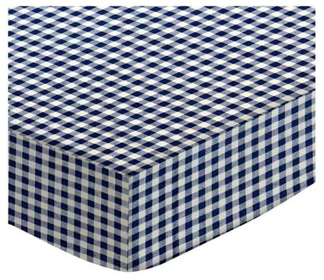Mini Crib Fitted Sheet Sheetworld Fitted Portable Mini Crib Sheet Gingham Check Contemporary Baby