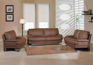 Furnishing Living Room Brown Leather Sofa Loveseat And Chair For Modern