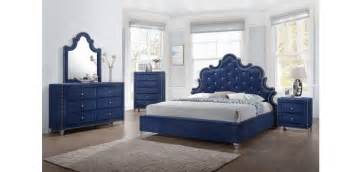 blue bedroom set caroline bedroom set in navy blue by meridian furniture