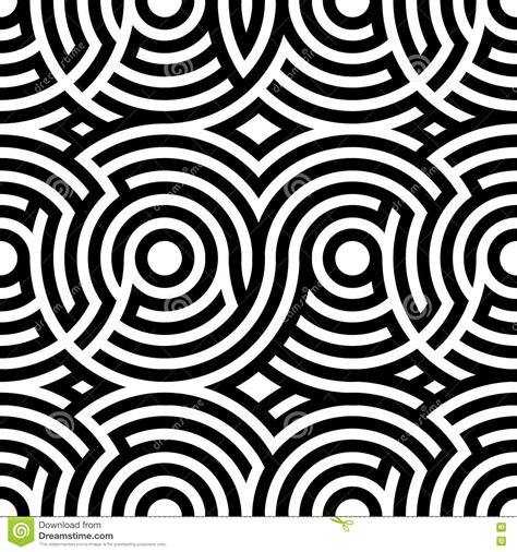 black pattern double color exposure two color spiral patterns seamless pattern vector