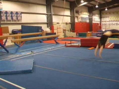 double layout gymnastics gymnastics first floor double layouts youtube