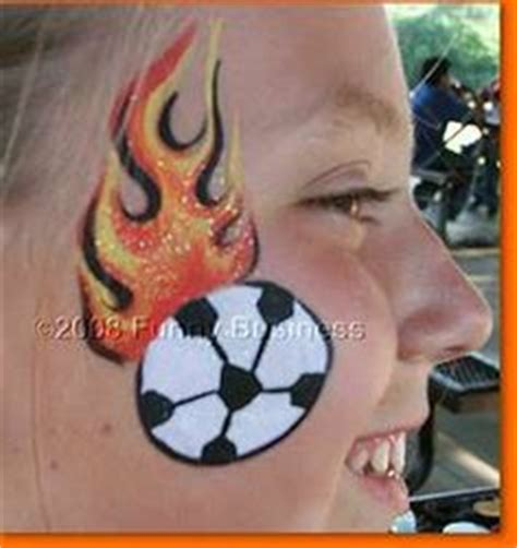 soccer ball with flames boy s face painting by let s face paint ideas on pinterest face paintings easy face