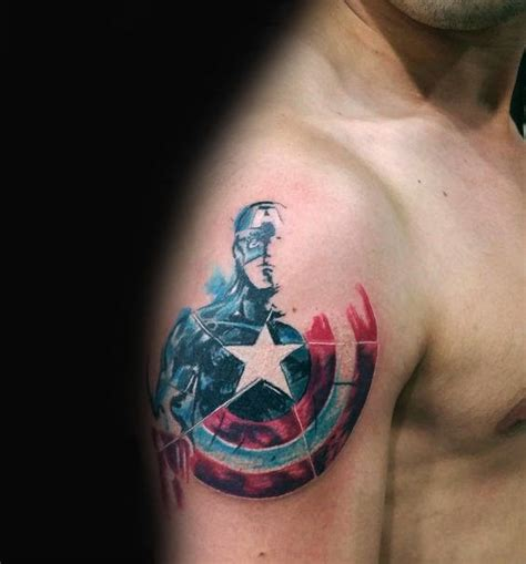 captain america tattoo ideas 70 captain america designs for ink