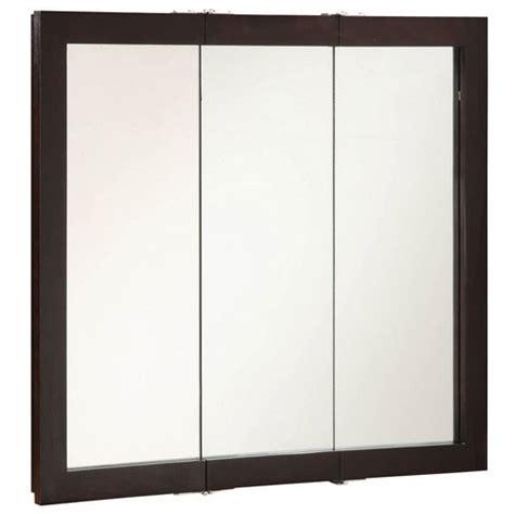 design house medicine cabinets design house 541359 ventura espresso tri view medicine cabinet mirror 36 inches by 30