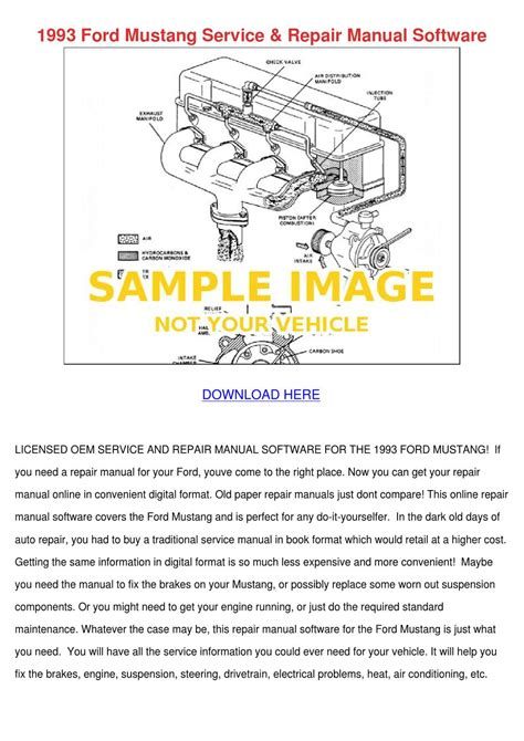 service manuals schematics 1992 ford mustang head up display 1993 ford mustang service repair manual softw by lindseyle issuu
