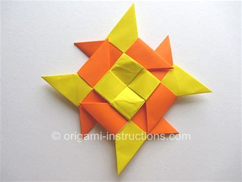 Origami Shuriken 8 Point - modular origami 8 pointed folding