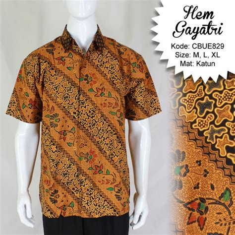Hem Batik Tulis Katun Murah F10417014mrh Kemeja Batik Anak Ukur 3 hem batik gayatri taruntum katun motif klasik kemeja