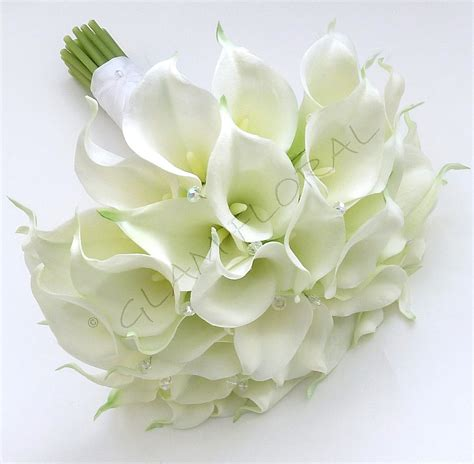 reserved for lilia real touch white calla lily amp by glamfloral