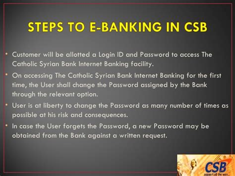 catholic syrian bank login ppt on csb software applications