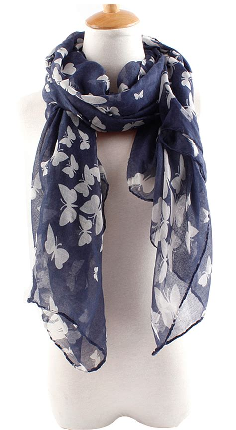 wholesale new fashion butterfly print scarf