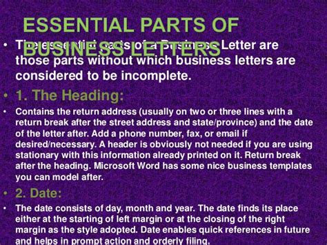 Parts Of Business Letter Essential parts of business letters and global communication