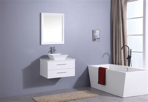 Bathroom Vanity Counter Totti Wave 24 Inch White Modern Bathroom Vanity With Counter Top