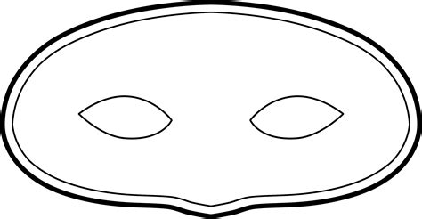 printable mask template free mask template clipart best