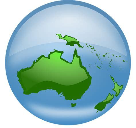 australia globe map free vector graphic globe world earth oceania map