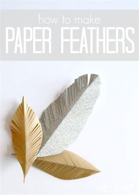 Make Paper Feathers - diy paper feathers tauni co