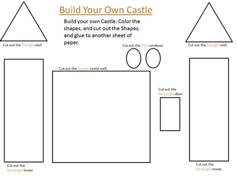castle cut out template the country cheapskate build your own castle free