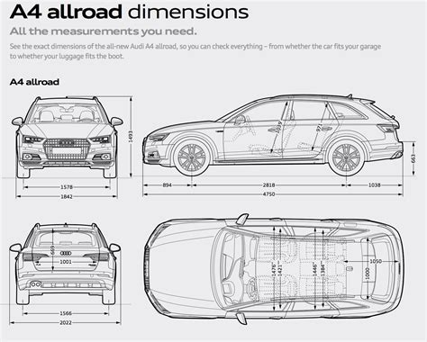 Abmessungen Audi A4 by Allroad Cargo Dimensions Audiworld Forums